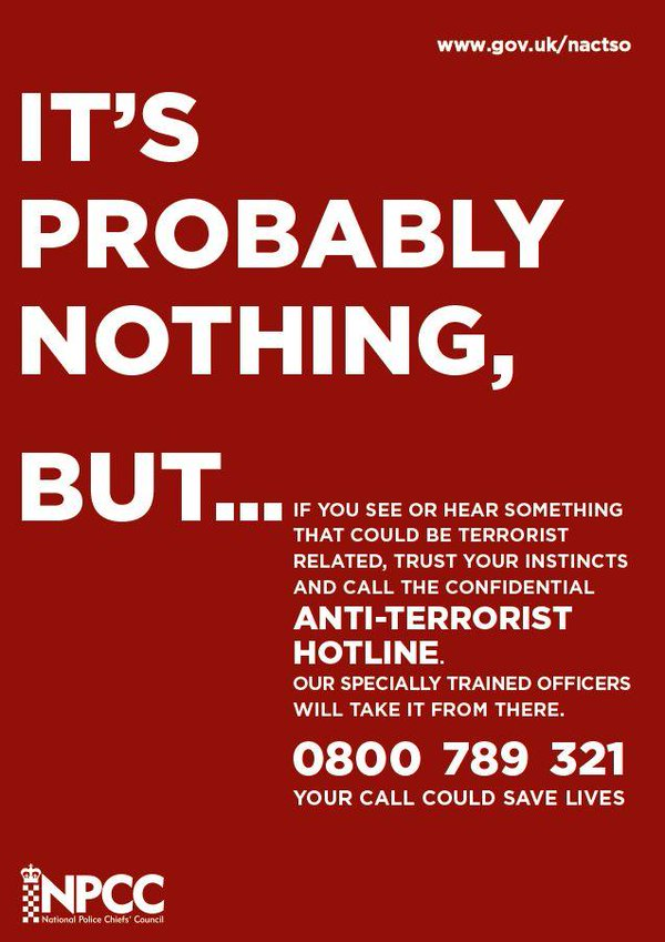 Anti-Terrorism Hotline : 0800 789 321